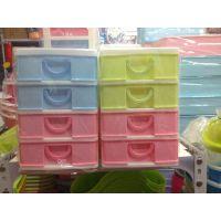 哈尔滨厂家批发供应四层抽屉柜 桌面收纳柜四层 塑料桌面杂物柜