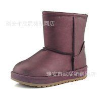 2015冬季防水儿童雪地靴 男女童纯棉靴子 基本款中筒韩版童靴