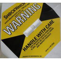 福州防撞防倾倒标签漳州25G黄色防震标签SHOCKWATCH标签指示器