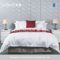 广州莱棉星级酒店布草宾馆床上用品欧式床尾巾床尾垫 小方格床旗抱枕批发