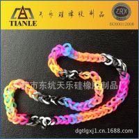 硅胶橡皮筋手链|自制编织硅胶手环DIY皮筋手链促销时尚手链批发