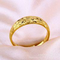淘宝爆款 欧币戒指满天星女士佩戴黄金饰品大量批发 微信一件代发