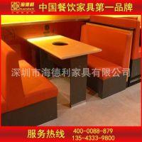 厂家直销 大理石火锅桌 星级酒店火锅桌椅 户外电磁炉桌