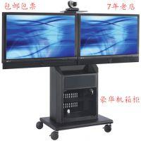 65寸三星乐视液晶电视移动架推车 双屏平板电视移动落地座架