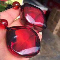 纯天然缅甸琥珀保真保质精品:玻璃底橘红随形挂件好货不多说