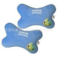 毛绒玩具生产厂家大运会蓝色抱枕超柔面料手感舒适顺滑礼品定制