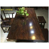实木大板特价奥坎非洲黄花梨红花梨黑檀鸡翅木餐桌茶桌