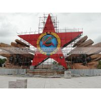 五角星不锈钢雕塑 红色不锈钢雕塑 不锈钢雕塑报价