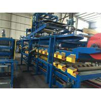 双层夹心板彩钢岩棉复合板机设备 地鑫全自动复合板压瓦机设备