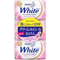 花王 保湿净白沐浴皂玫瑰芳香 普通型 85g×3個