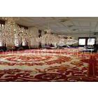 Red Patterns Custom fireproof Handmade Wool Carpets For Home Decoration