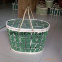 厂家直销编织蔬菜篮水果篮礼品包装竹篮  收纳筐一个起批供货稳定