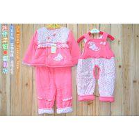 清货 新款儿童棉衣套装 婴幼儿棉服礼盒三件套 婴幼儿棉袄套
