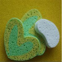 同球小熊沐浴用品配套白色木浆海绵 吸水花盆保湿木浆棉 可涂色双色