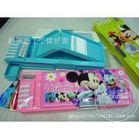2014新款 正品Disney/迪士尼 米奇卡通五功能塑料笔盒文具盒83018