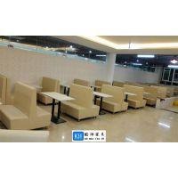 供应株洲订购餐厅家具卡座沙发广州酷海家具厂家批发
