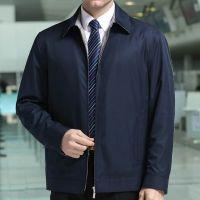 2015春装新款男装夹克商务 柒牌男式夹克 中年翻领纯色薄款外套男