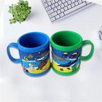 义乌儿童礼品动漫卡通硅胶马克杯生产厂家