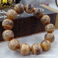 【檀之香】批发金丝竹棕竹手串镶嵌小叶紫檀佛珠精品设计