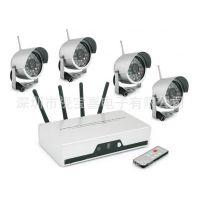 四路音频和视频同时输出无线监控套装 无线摄像机 红外夜视防水