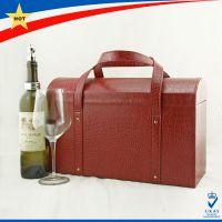 红酒皮箱工厂 酒盒 客制化 可印LOGO 高档包装 深圳工厂