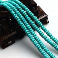【热销】天然水晶绿松石算盘珠扁隔珠DIY佛珠念珠手链