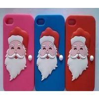 圣诞节硅胶制品 圣诞节硅胶手机壳 圣诞老人手机套 iphone手机壳