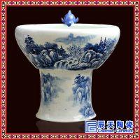 家用养鱼陶瓷喷泉批发厂家 景德镇陶瓷喷泉加湿器供应