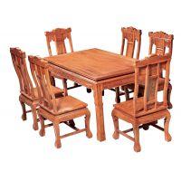 中国红木家具文化 誉典福品牌非花缅花餐桌 客厅家具