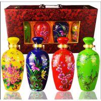陶瓷酒瓶定制、青花陶瓷酒瓶
