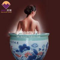 温泉洗浴大缸 润雅陶瓷大缸1.1米日式浴桶厂家直销