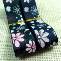 【25mm】印花丝带罗纹带发饰蝴蝶结材料 diy手工织带新款供应