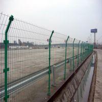 直销高速公路安全防护双边丝护栏网 浸塑铁路防护围栏