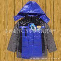 新款外贸儿童加厚连帽棉衣,库存整单防寒保暖加厚儿童棉衣直销