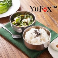 磨砂韩式不锈钢双层大碗汤碗面碗饭碗餐具 复古 餐饮用具