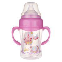 多乐欣婴儿宽口径带手柄防爆玻璃奶瓶PF-306 新生儿母婴用品