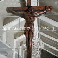 玻璃钢宗教人物雕塑 耶稣十字架雕塑 大型耶稣巴西基督雕像 玻璃钢人物雕雕树脂工艺品