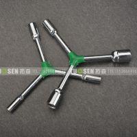 拓森包胶三叉套筒扳手Y型扳手维修自行车套管扳手临沂批发工具