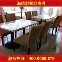 厂家定做 简约大理石餐桌椅组合 长方形小户型桌子 人造石餐桌