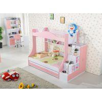 供应新款儿童卧室家具子母床上下铺双层床学生公寓床