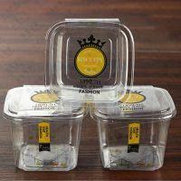 【玖儿包装】烘焙包装厂家批发 烘焙点心包装盒 泡芙正方透明盒蛋糕包装盒塑料西点盒定制打包盒