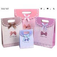 现货韩版蝴蝶翻盖袋 手提袋 包装袋 礼品袋批发 纸袋厂家