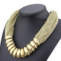 OM521 速卖通外贸新款金丝绸缎链条CCB个性气质欧美项链毛衣链女