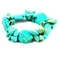 外贸出口欧美 手工串珠民族波西米亚风天然精品绿松石手链
