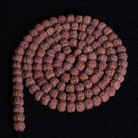 尼泊尔极紫红皮小金刚菩提子念珠 藏式佛珠 108手串批发