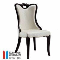 深圳扬韬生产地中海风格 进口实木餐椅 无扶手餐椅 时尚餐椅
