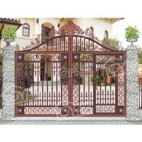 铝合金大门防盗 铸铝整套门 阳台护栏庭院大门围栏、欧雅斯别墅围栏铝合金