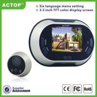 ACTOP卓豪3502无线智能电子猫眼3.5寸室内显示屏拍照监控免打扰干电池楼宇可视门铃酒店客控系统