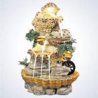 流水喷泉假山招财风水轮鱼缸客厅摆件家居饰品工艺品开业乔迁礼品