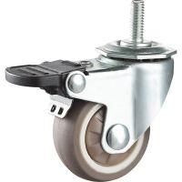 奔驰五金1.5寸超级人造胶TPE万向脚轮